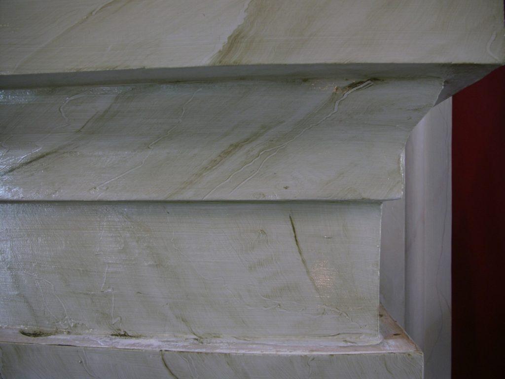 Marmoreringsteknik i Ingelstorps kyrka